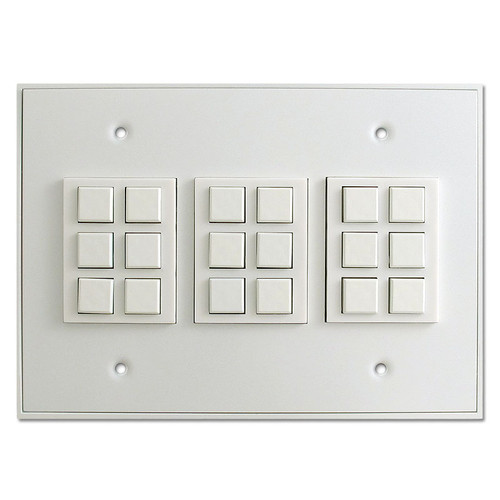 White Touch Plate Low Voltage Classic 18 Switch Unit