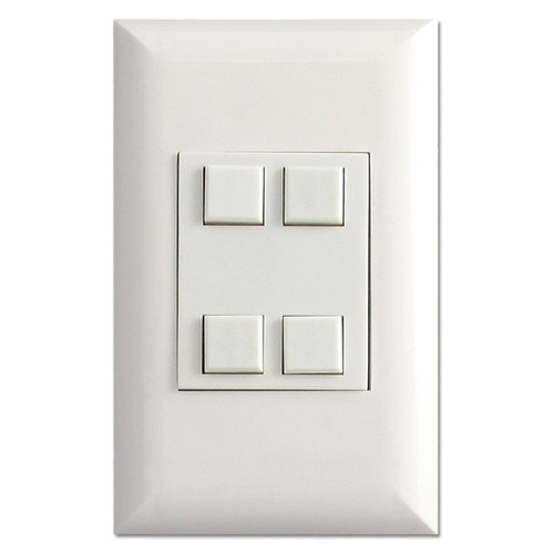 White Classic Series Touch-Plate Control with 4 Switches