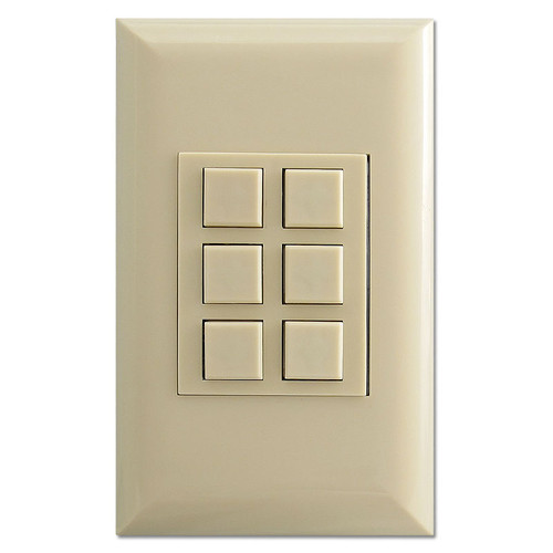 Ivory 6 Switch Touchplate Classic Low Voltage Controller
