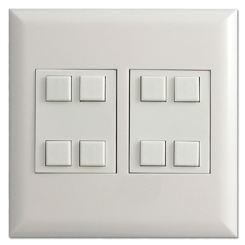 White Touch Plate Classic 8-Button Low Voltage Control Switch