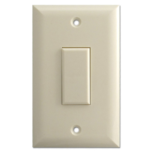 Almond Touch-Plate Genesis 1 Button Low Voltage Switch