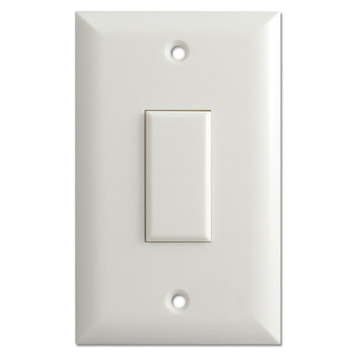 White 1 Button Touch-Plate Genesis Low Voltage Switch & Plate