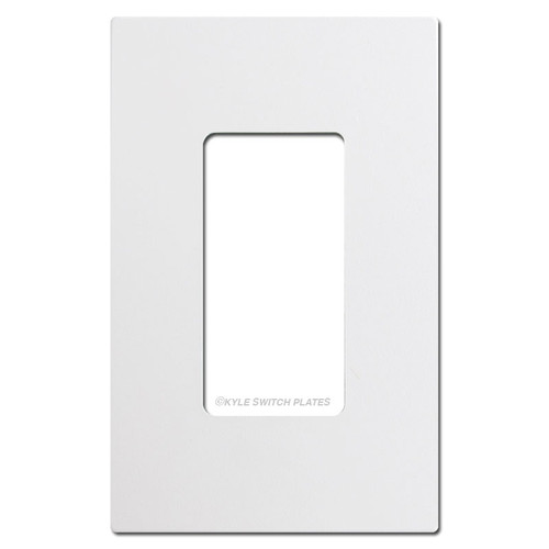 White Ultra Series Touch Plate Wall Switch Plates