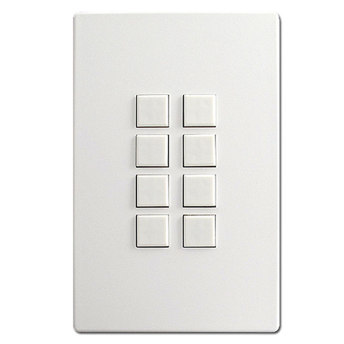 White Touch-Plate Mystique Control Stations - 8 Switches