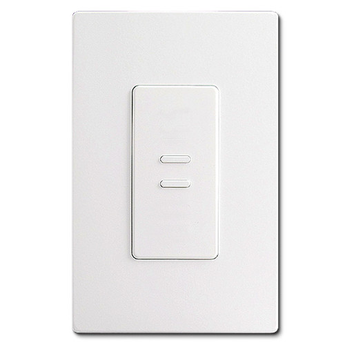 White Ultra Series Touch Plate - 2 Switches