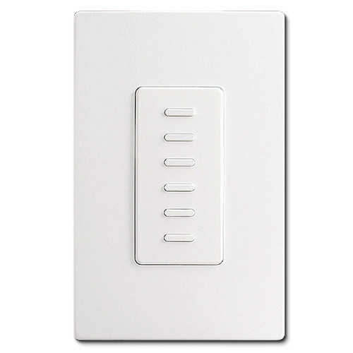 White Ultra Series Touch Plate - 6 Switches