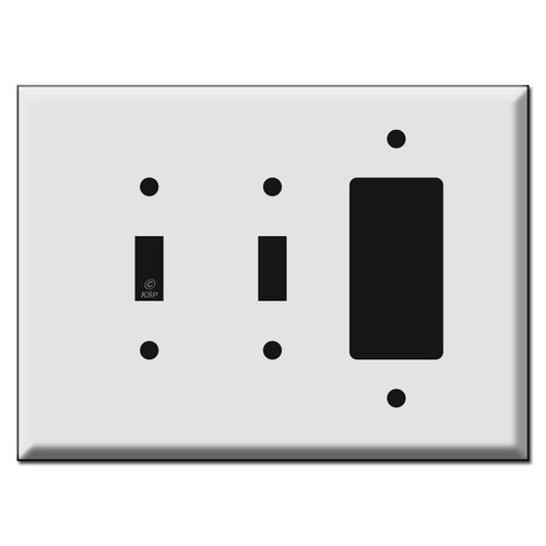 Oversized 2 Toggle and 1 Rocker Combo Switch Plate