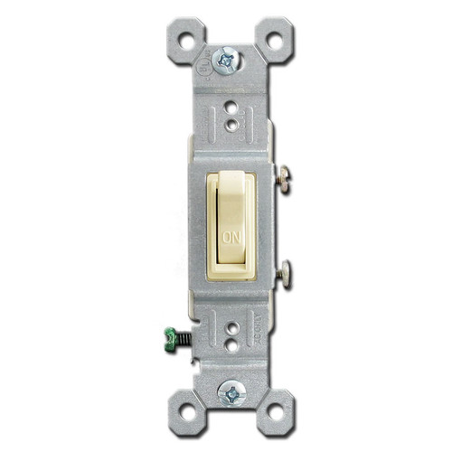 Ivory 15 Amp Toggle Switch