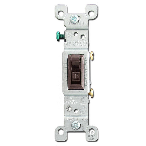 Brown 15 Amp Toggle Light Switch