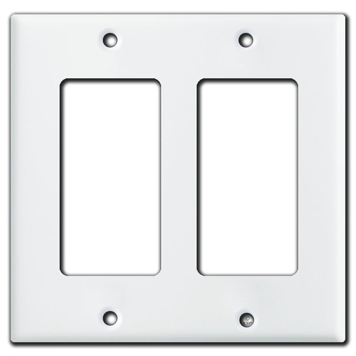 2 Rocker Switch Plate - Solid White