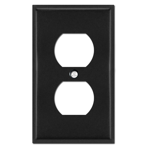 1 Duplex Outlet Switch Plate Cover - Black