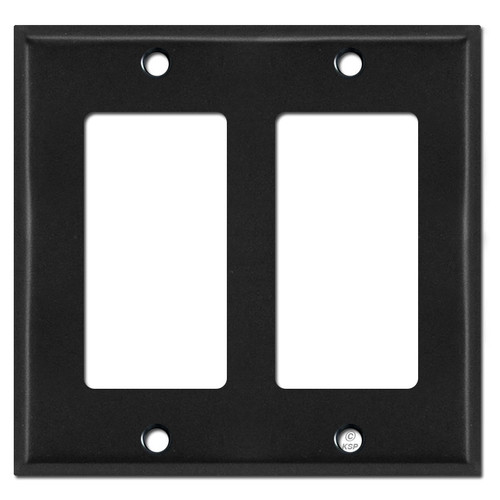 2 Decora Rocker Switch Plate Cover - Black