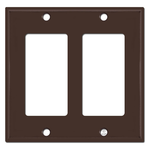 2 Rocker Wall Plate - Brown