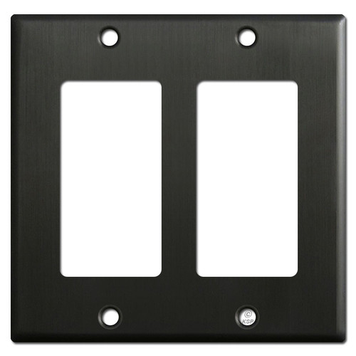 2 Rocker Switch Plate Covers - Dark Oiled Bronze
