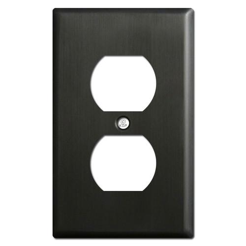 Duplex Outlet Switch Plates - Dark Oiled Bronze