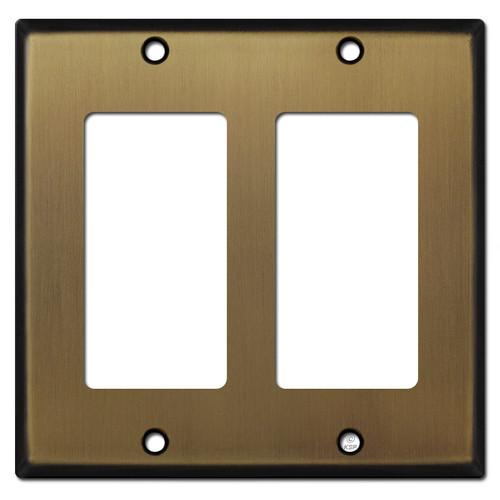 2 Decora Switch Plate - Antique Brass