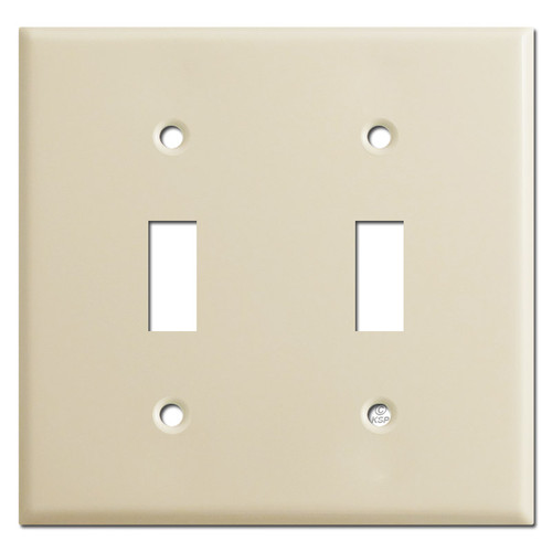 2 Toggle Switch Plates - Ivory