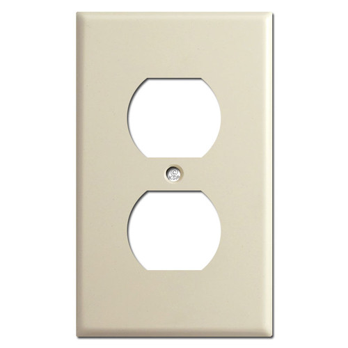 1 Duplex Outlet Cover Plate - Ivory