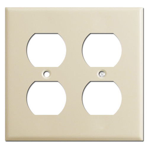 2 Duplex Outlet Switch Plates - Ivory
