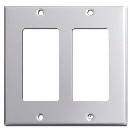 2 Decora Rocker Switch Plate - Brushed Aluminum