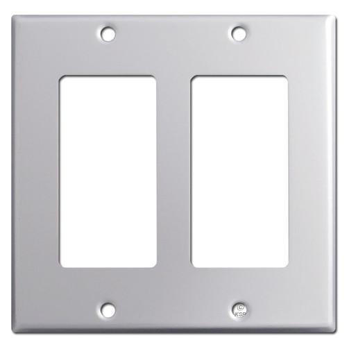 2 Decora Rocker Switch Plate - Brushed Aluminum