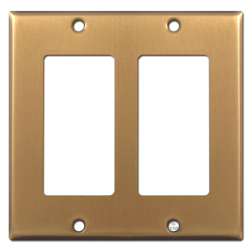 2 Decora Switch Plate Covers - Satin Bronze