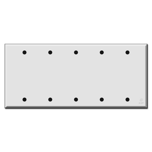 Five Gang 5 Blank Switch Plate Covers
