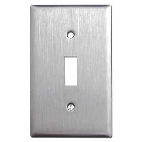Spec Grade Stainless Steel 1 Toggle Wall Plates
