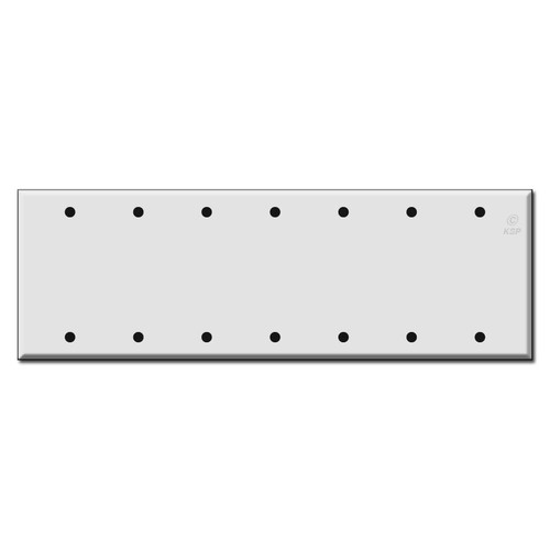 Seven Gang 7 Blank Wall Switch Plates