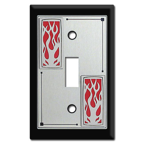 Decorative Switch Plates with Flames - Fire Decor