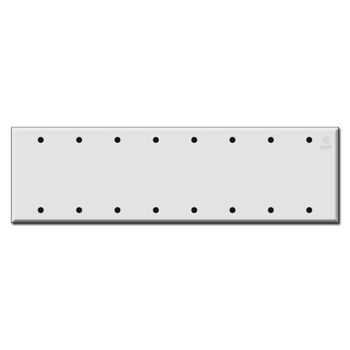 Eight Gang 8 Blank Wall Switch Plates