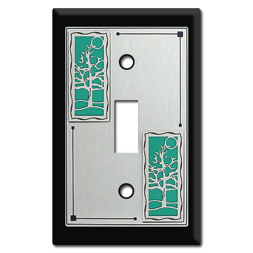 Decorative Switch Plate with Trees