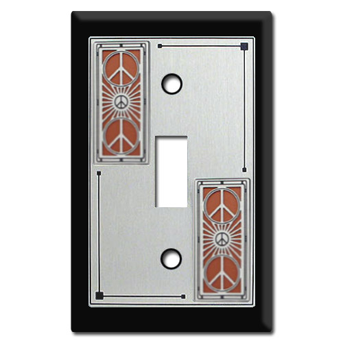 Decorative Switch Plate with Peace Sign