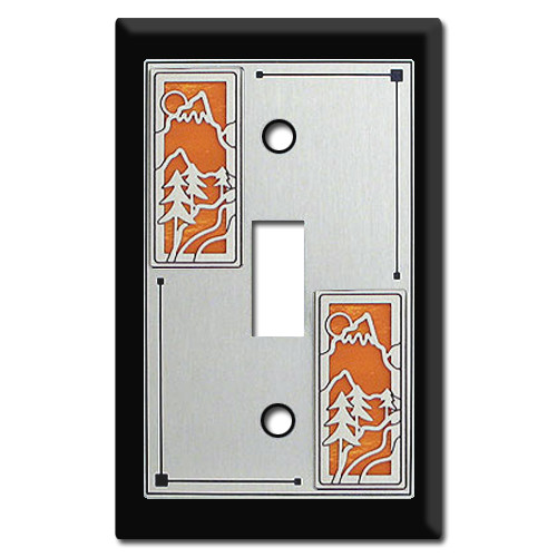 Cabin Decor - Switch Plates with Mountain Scenery