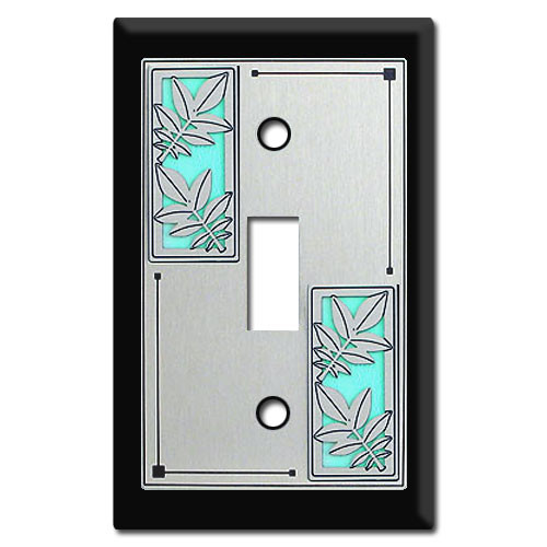 Nature Themed Switch Plates with Leaves