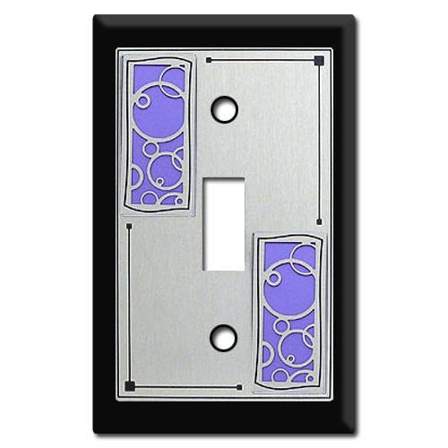 Abstract Circles Decorative Switch Plates