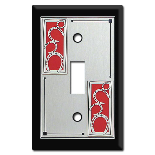 Western Decor - Light Switch Covers with Horseshoes