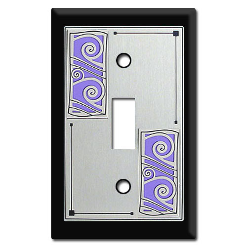 Switch Plate with Swirly Wave Design