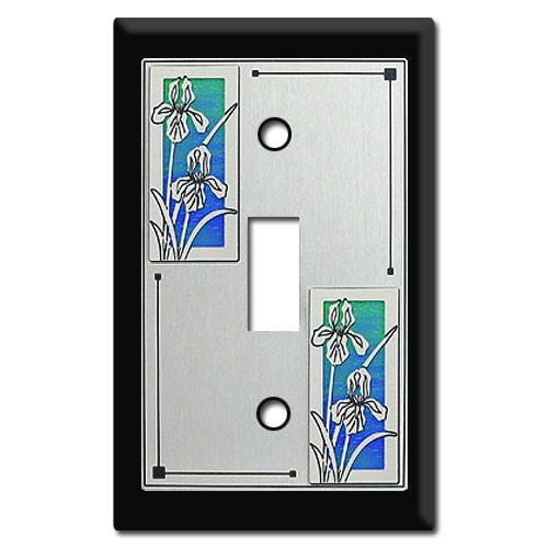 Decorative Switch Plates with Iris Flowers