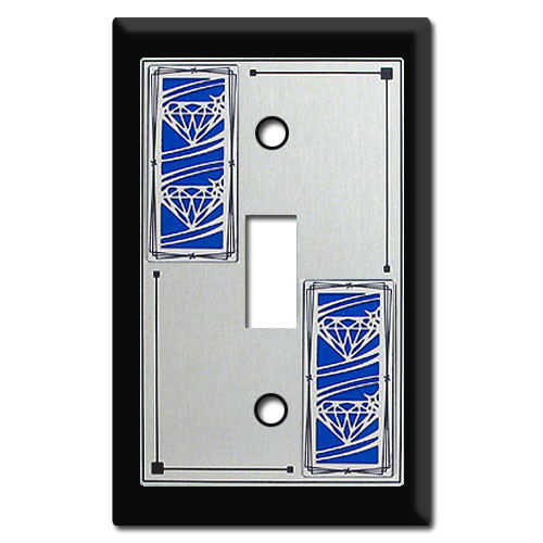 Jeweler Switch Plates with Diamond Design