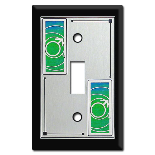 Switch Plate with Male Symbol