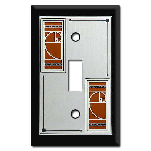 Decorative Fibonacci Switch Plate