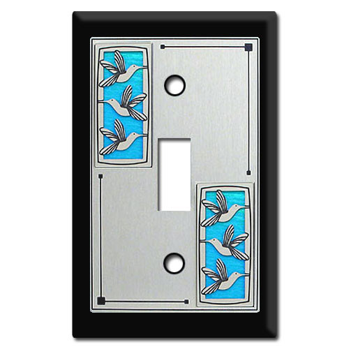 Feminine Switch Plates with Hummingbirds