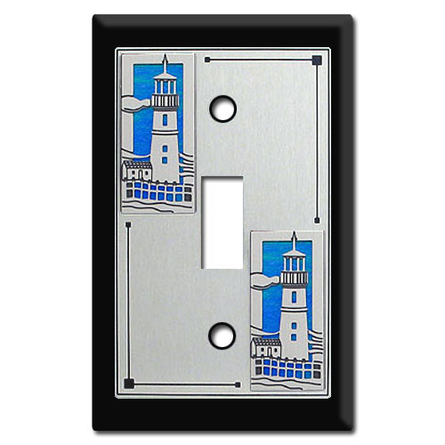 Switch Plates with Lighthouses
