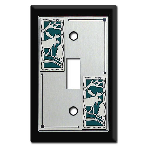 Animal Switch Plates with Moose