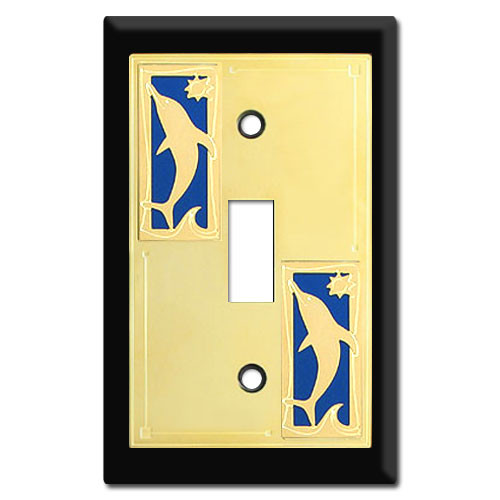 Switch Plates with Dolphins