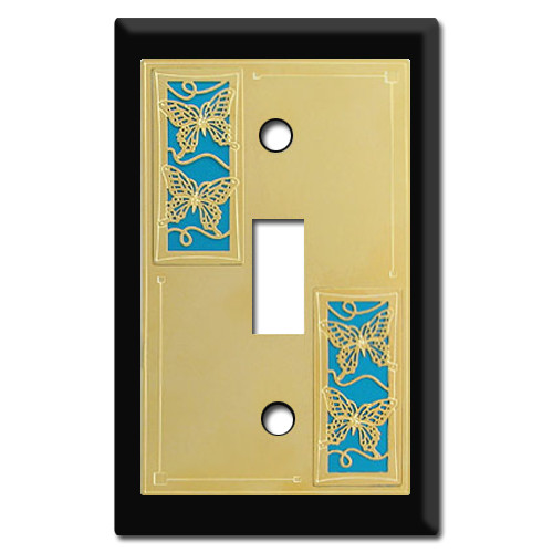 Switch Plates & Outlet Covers with Colorful Monarch Butterflies