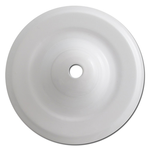 Deep Round Ceiling Outlet Blank Switch Plates with Center Screw Hole