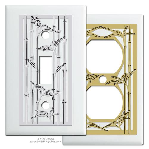 White Bamboo Theme Switch Plates