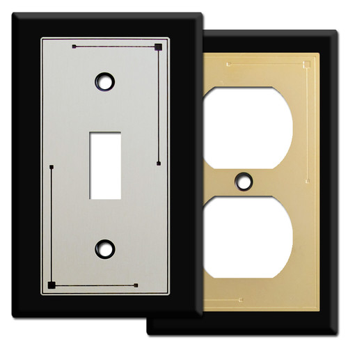 Decorative Black Switch Plates & Outlet Covers